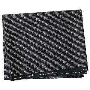 Artek Rivi Puuvillakangas Musta / Valkoinen 150x300 Cm
