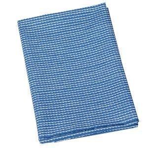 Artek Rivi Puuvillakangas Sininen / Valkoinen 150x300 Cm