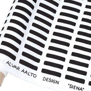 Artek Siena Akryylipinnoitettu Kangas Valko / Musta 145x300 Cm