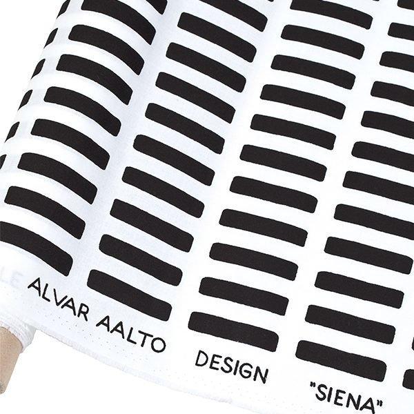 Artek Siena Canvas Puuvillakangas Valko / Musta 150x300 Cm