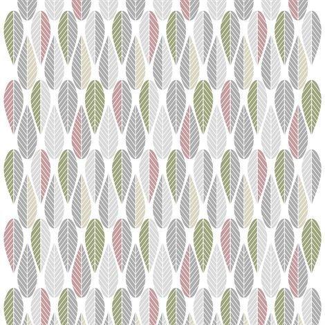 Arvidssons Textil Blader Kangas Vaaleanpunainen-Harmaa-Vihreä