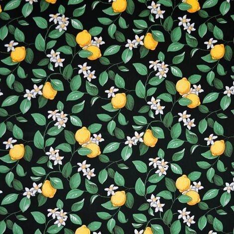 Arvidssons Textil Citronlycka Kangas Musta
