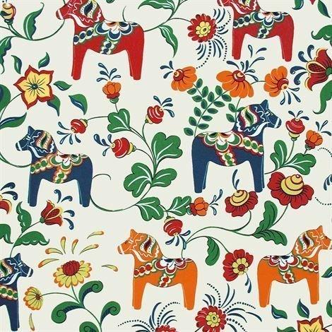 Arvidssons Textil Dalahäst Kangas Beige