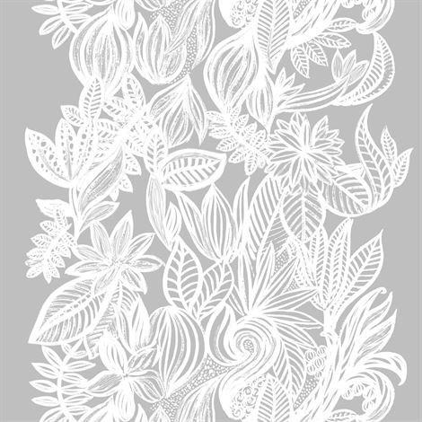 Arvidssons Textil Doodle Kangas Harmaa-Valkoinen