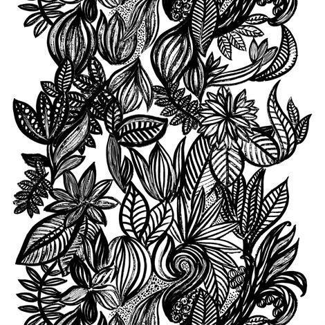 Arvidssons Textil Doodle Kangas Valkoinen-Musta