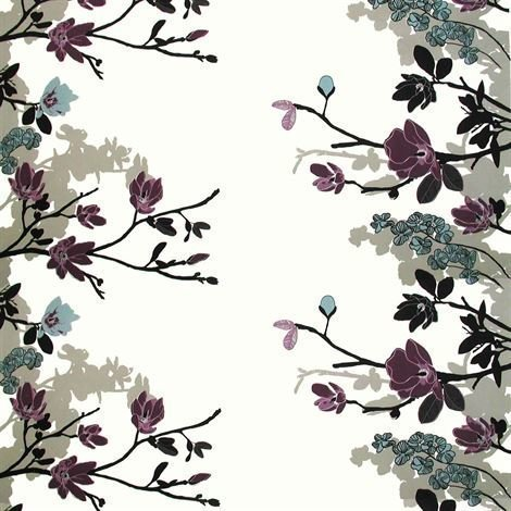 Arvidssons Textil Grandiflora Kangas Violetti