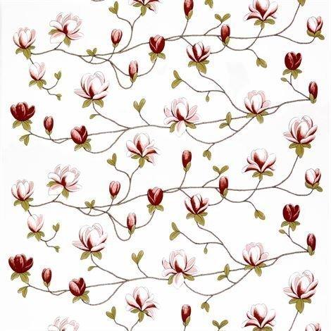 Arvidssons Textil Milliflora Kangas Roosa-Valkoinen