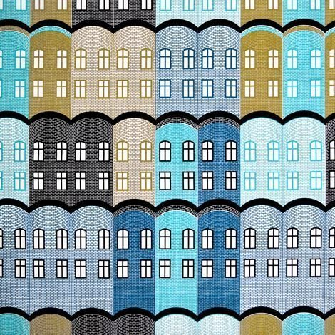 Arvidssons Textil Stad Kangas Sininen