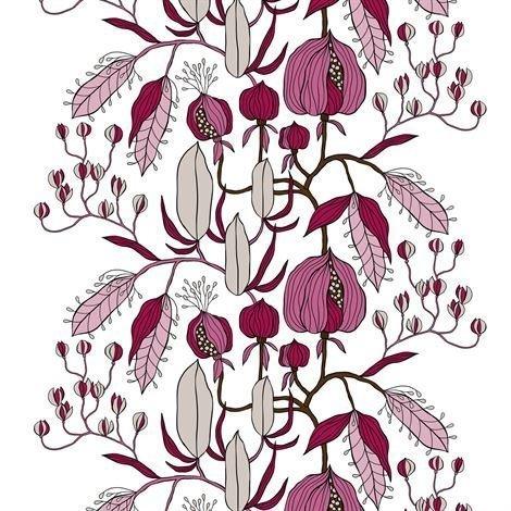 Arvidssons Textil Sulawesi Kangas Vaaleanpunainen