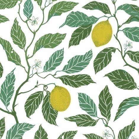 Ljungbergs Swedish Floral Kangas Sitrus Lime