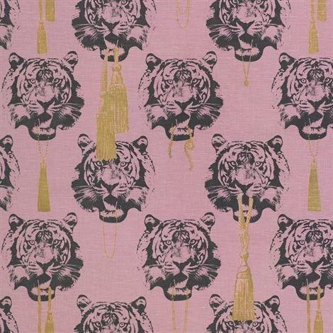 Studio Lisa Bengtsson Coco Tiger Kangas Vaaleanpunainen